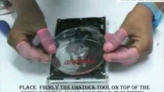Tool to release jammed motor,  Spindle  unstuck tool video ,seagate HDD