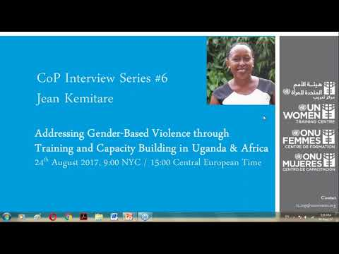 CoP Interview Series - Addressing Gender Based Violence with Training in Uganda