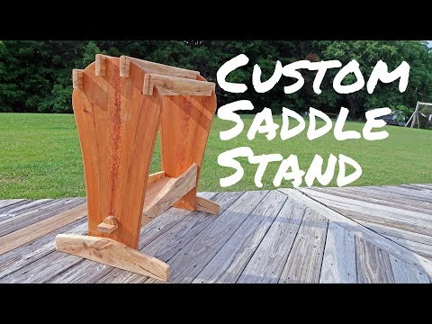 Cherry & Spalted Maple Saddle Stand