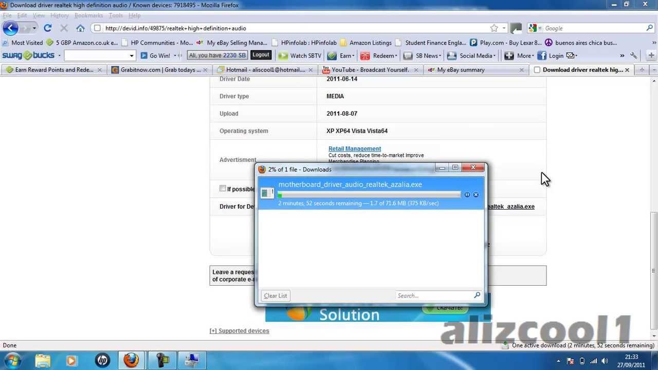 download driver motherboard msi ms-7592 ver 52