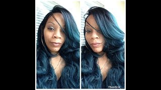 Gorgeous Green Hair! | Bobbi Boss Mlf221 Tatiana | Lace Front Wig | Gobeautyny.com
