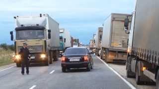 Авария на Сулакской трассе, в 40 километрах от Махачкалы