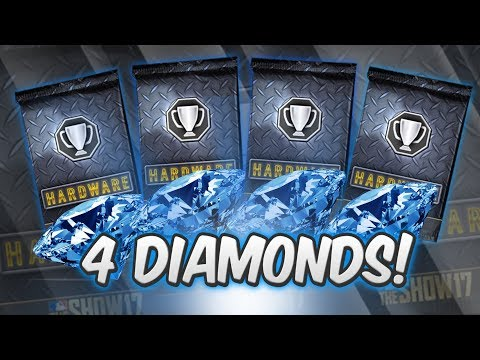4 DIAMOND PLAYER PULLS FROM NEW HARDWARE PACKS!   MLB The Show 17 DIAMOND DYNASTY