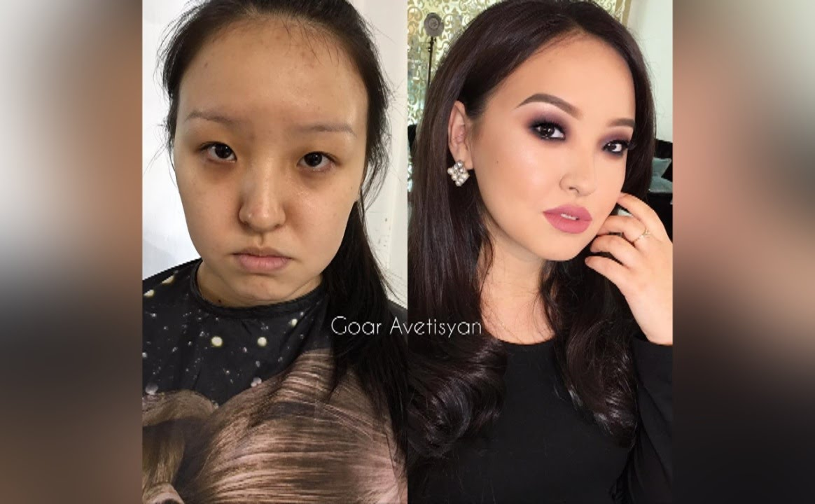 Korean Girl Makeup Before And After Saubhaya Makeup