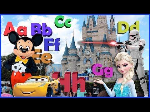 ABC SONG  ABC Songs for Children  26 Alphabet Phonics Disney World
