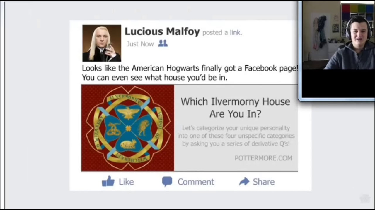 lyndan reacts to if harry potter had facebook youtube
