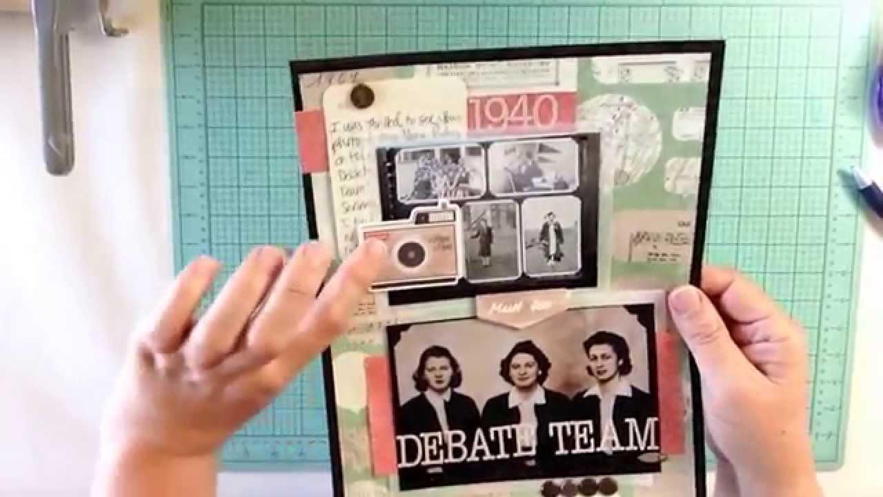 Scrapbook ideas niagara falls - Scrapbook Layout 2 1940 Debate Team Crate Paper Journey Inspired Diy Scrapbook Kit
