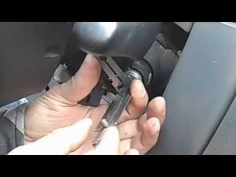 Снятие личинки замка зажигания Мерседес ML 320