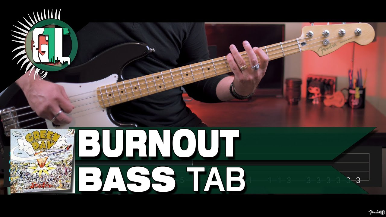 Green Day - Burnout | Bass Cover With Tabs in the Video
