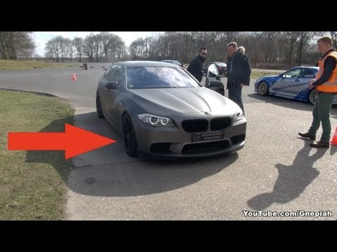 Worlds fastest BMW F10 M5 in action Front brake disc getting hot