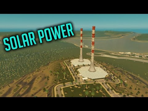 SOLAR POWER! - Cities Skylines - Green Cities - Let's play #5