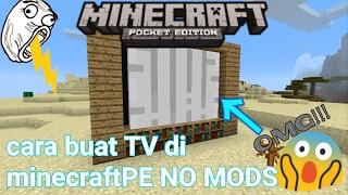 Cara buat TV di minecraftPE terkeren 😎 no mods