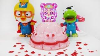 포핀쿠킨 신제품 리본공주 푸딩 만들기 요리놀이 장난감 뽀로로 왕자 핑크공주를 구하라 Popin Cookin Princess ribbon making pudding dish