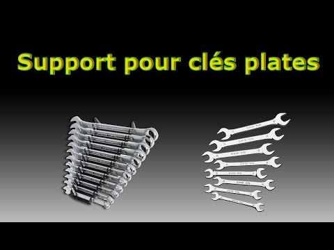 support pour cl s plates bricol tout youtube. Black Bedroom Furniture Sets. Home Design Ideas