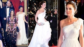 Duchess Kate upstages stars as she dazzles in gown & Diana's earrings at the BAFTAs