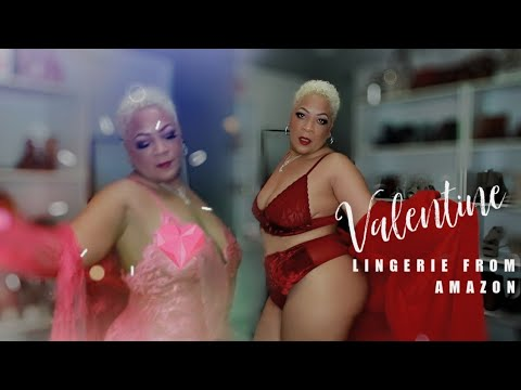 Affordable Valentine's Day Thick Mama Lingerie from Amazon | Plus Size Lingerie Try On