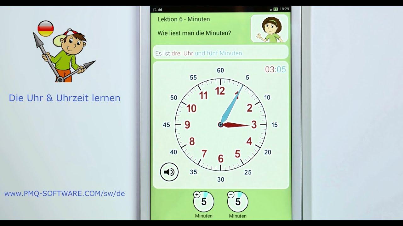 die uhr amp uhrzeit lernen android ipad windows youtube