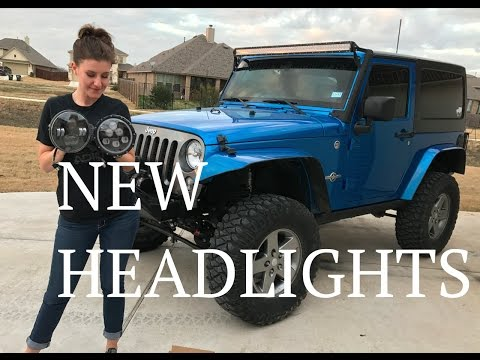 Jeep Girl Auxbeam Headlight How To Install and Review - Full Version - Jeep Wrangler