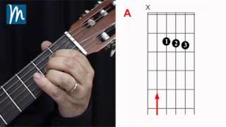 Acordes para guitarra: La - A