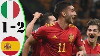 Италия vs Испания 1 2 Обзор Матча Опасные Моменты И Голы Полуфинал Лига наций УЕФА 2021 HD