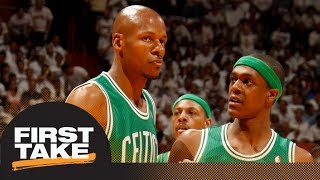 Ray Allen says Rajon Rondo told Celtics he 'carried' team to 2008 title | First Take | ESPN thumbnail