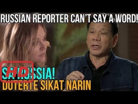 Russian Media reporter bilib na bilib kay President Duterte