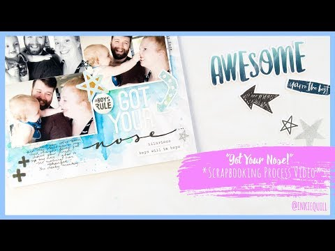 """Got Your Nose"" *COCOA VANILLA* Scrapbooking Process Video + + + INKIE QUILL"