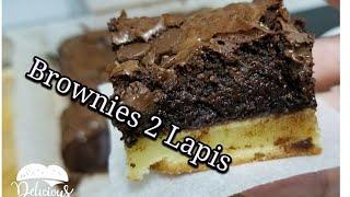 Resep Brownies 2 Lapis