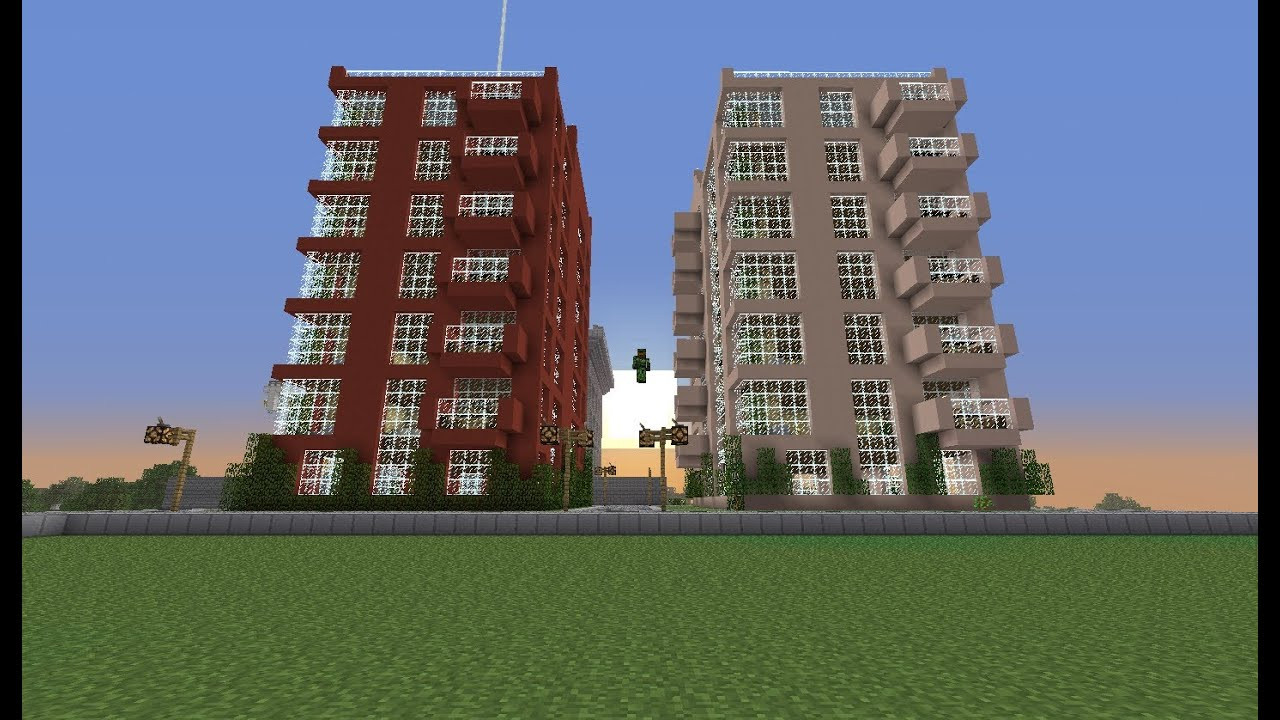 Minecraft Time Lapse Modern Apartment Complex