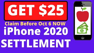 $25 for iPhone  6 7 SE Apple $500 Million Settlement Batterygate Filing GET PAID - Claim Link