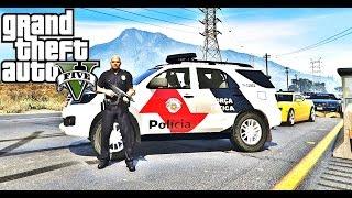 GTA V PATRULHA POLICIAL- FORÇA TÁTICA EM OCORRÊNCIAS DO DIA A DIA #1