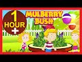 Here We Go Round The Mulberry Bush Nursery Rhyme | 1 Hour | Kids Hut