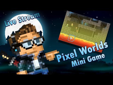 We Made A Pixel Worlds Mini Game! [Pixel Worlds Live Stream]