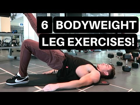 6 Bodyweight Leg Exercises - AT-HOME WORKOUT!