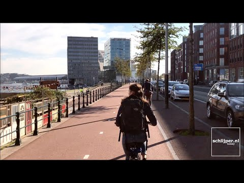 Cycling From West To East Amsterdam