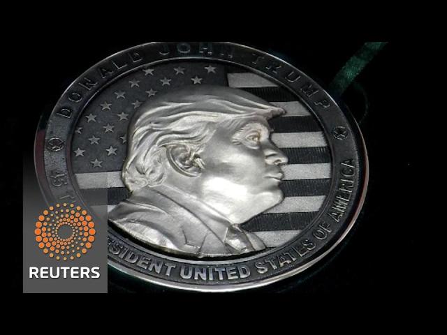Russian company mints 1 kg silver Trump coin