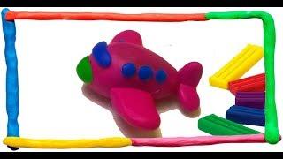 САМОЛЁТ из пластилина для детей