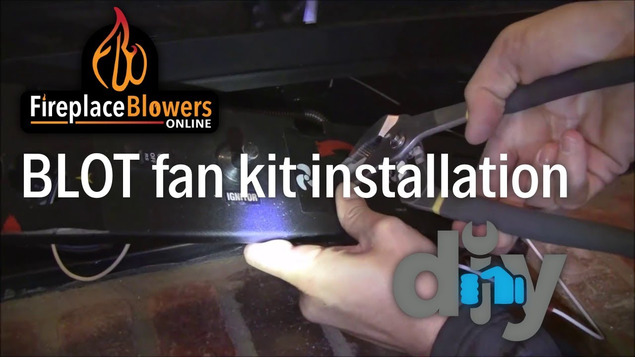 blot fireplace blower kit installation youtube