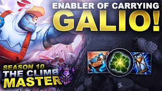 GALIO! THE ENABLER OF CARRYING! - Climb to Master Season 10   League of Legends
