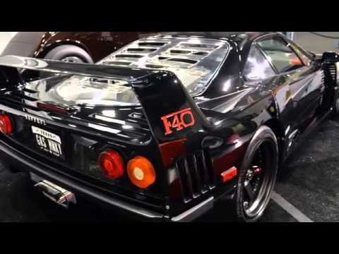gas monkey garage 1991 ferrari f40 barrett jackson 2014. Black Bedroom Furniture Sets. Home Design Ideas