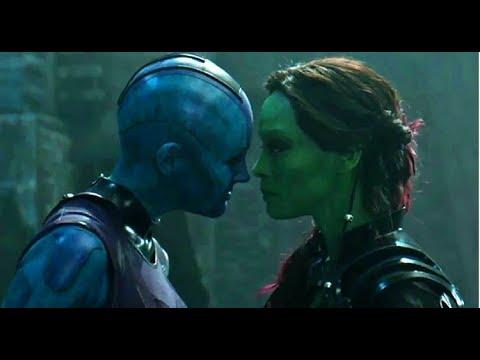 Avengers Infinity War  GAMORA Vs. NEBULA scene