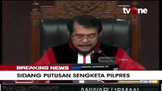 Gambar cover [BREAKING NEWS] Hakim Konstitusi Bacakan Pertimbangan Majelis   Sidang Putusan Sengketa Pilpres