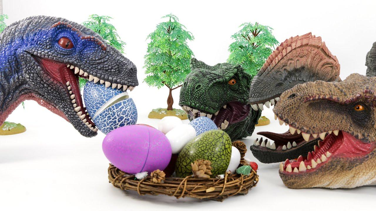 Lot's Of Dinosaur Egg Toys   Jurassic World, Schleich Dino Eggs