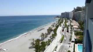 Mar Mediterráneo vista panorámica desde Playa Velilla, Almuñécar