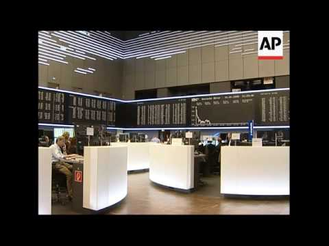 Markets plunge; trading floor, Paris analyst, Frankfurt