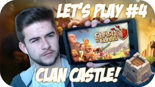 "★CLASH OF CLANS | Let's Play ""CLAN CASTLE!"" So Many Gems! Live Episode 4★"
