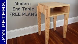 Modern End Table / Side Table DIY Woodworking Project by Jon Peters