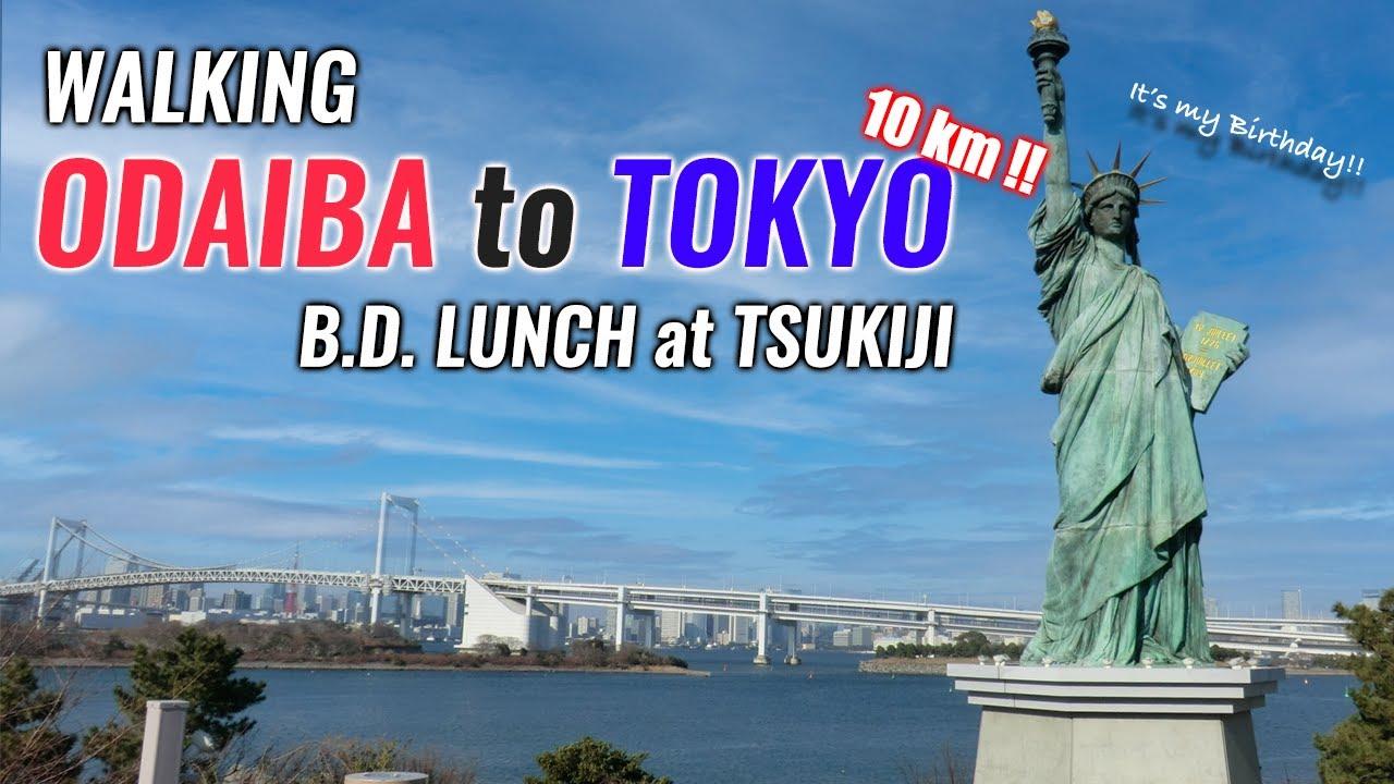 Download Walking Odaiba to Tokyo Station (10km /6 miles) Eating Nice Lunch at Tsukiji Fish Market