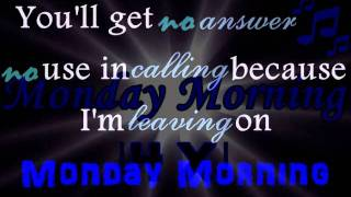 Melanie Fiona - Monday Morning ( with Lyrics ) ♫♫♫