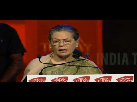 UPA Chairperson Smt. Sonia Gandhi's Speech | India Today Conclave-2018